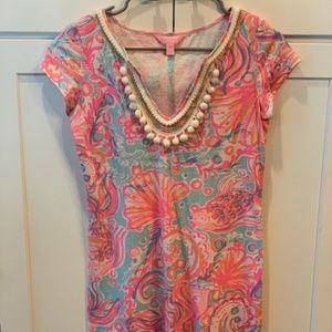 Lilly Pulitzer XS Sea Shell Dress Short Sleeve